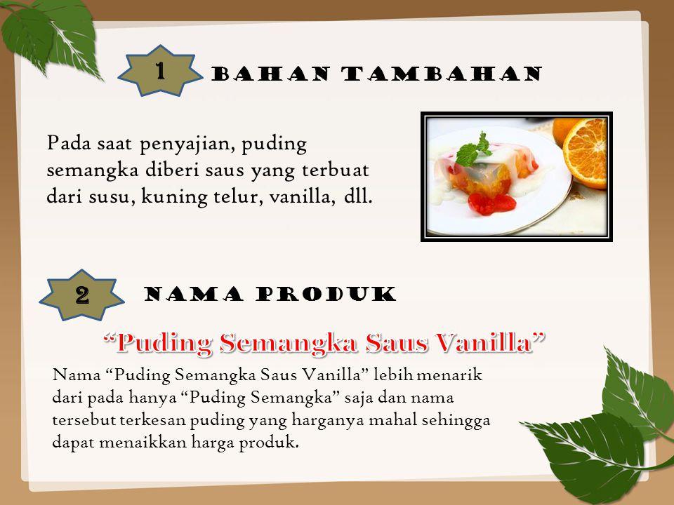Puding Semangka Saus Vanilla