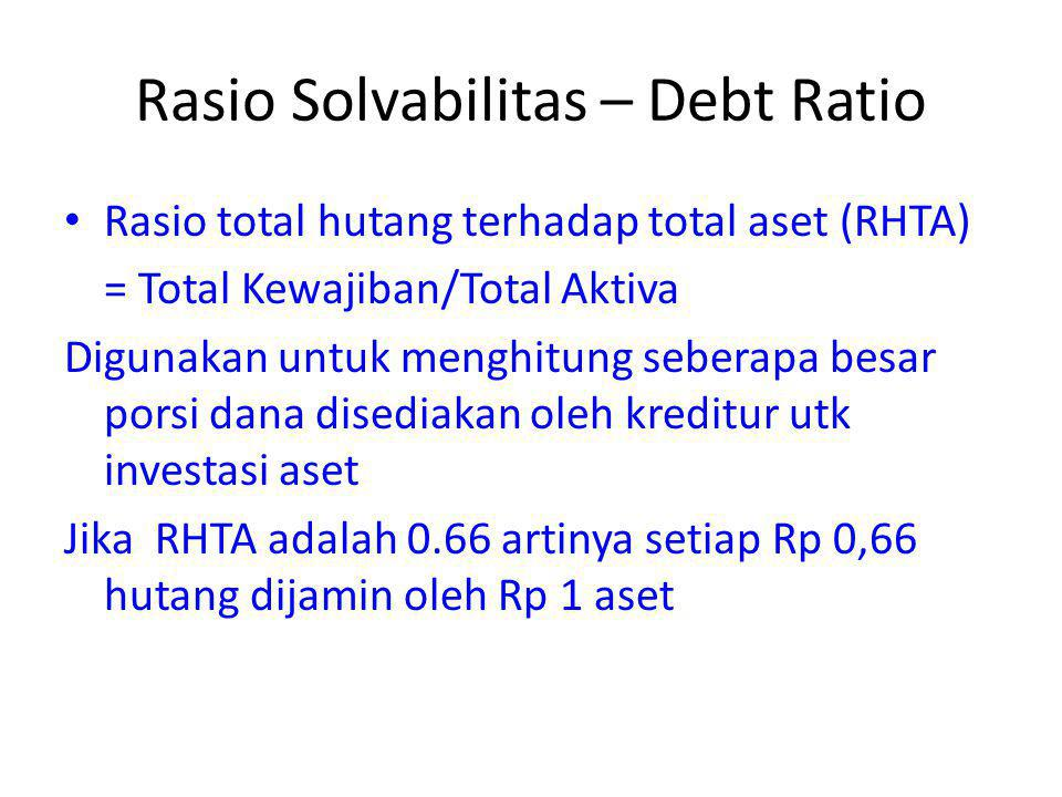 Rasio Solvabilitas – Debt Ratio