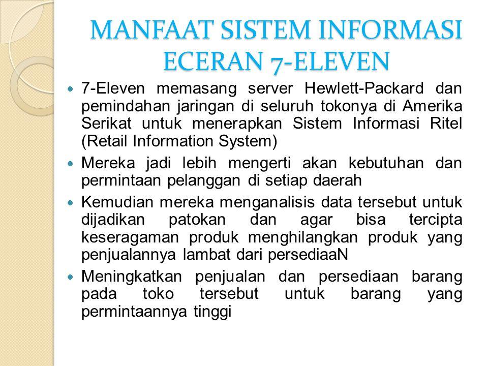 MANFAAT SISTEM INFORMASI ECERAN 7-ELEVEN