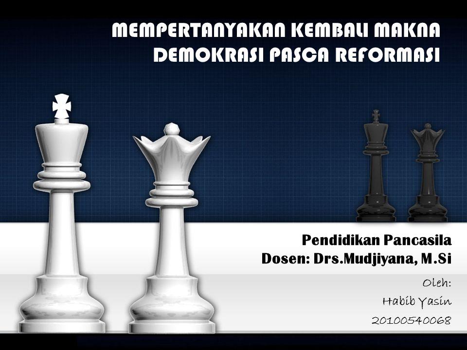 Pendidikan Pancasila Dosen: Drs.Mudjiyana, M.Si