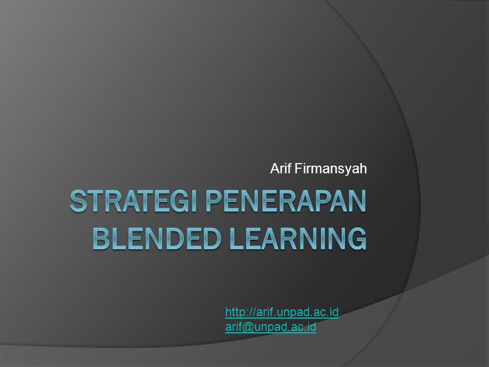 Strategi penerapan blended learning