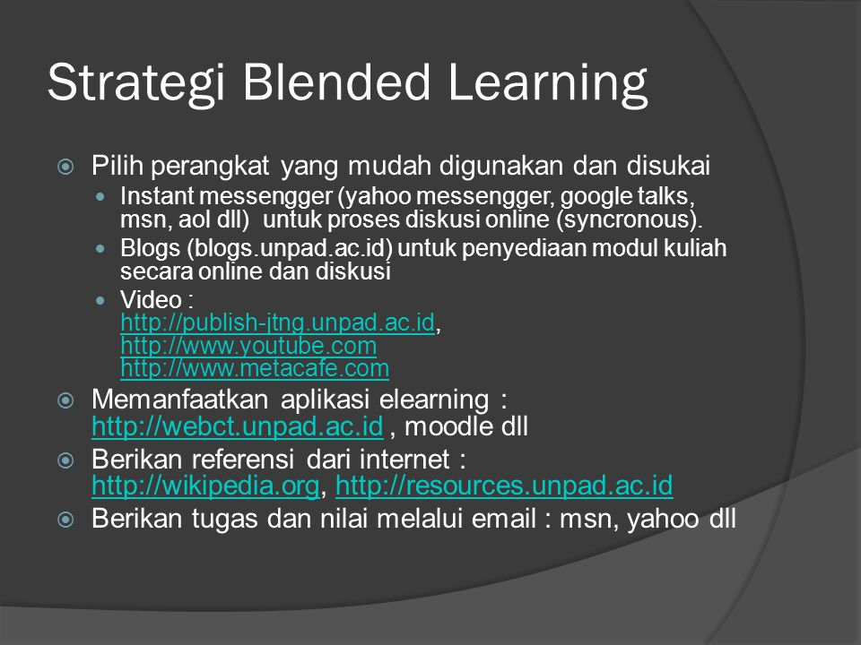 Strategi Blended Learning