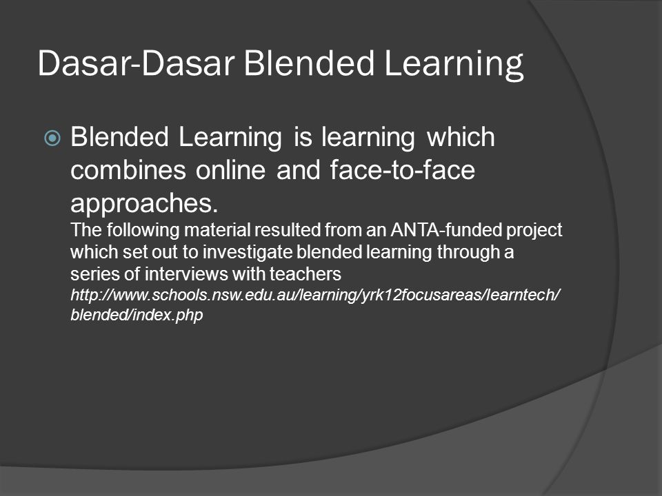 Dasar-Dasar Blended Learning