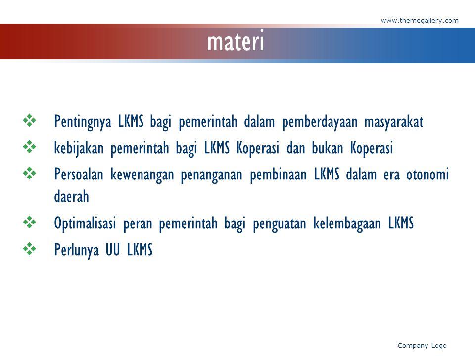 materi Pentingnya LKMS bagi pemerintah dalam pemberdayaan masyarakat