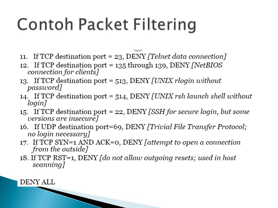 Contoh Packet Filtering