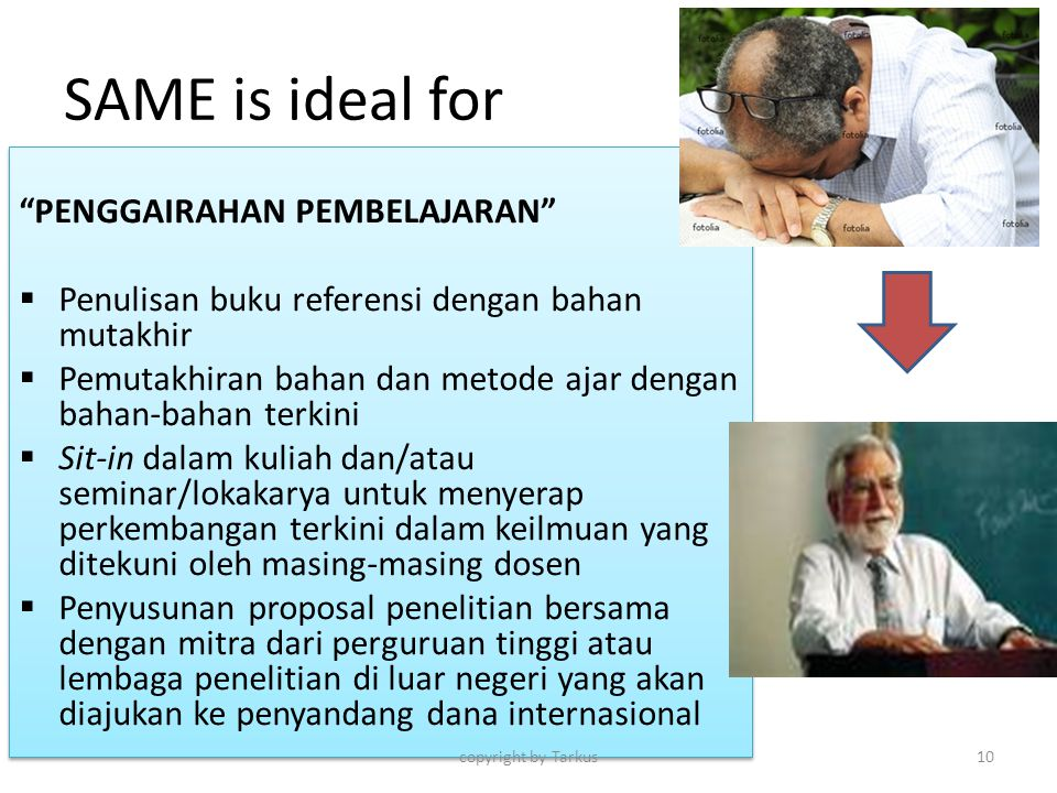 SAME is ideal for PENGGAIRAHAN PEMBELAJARAN