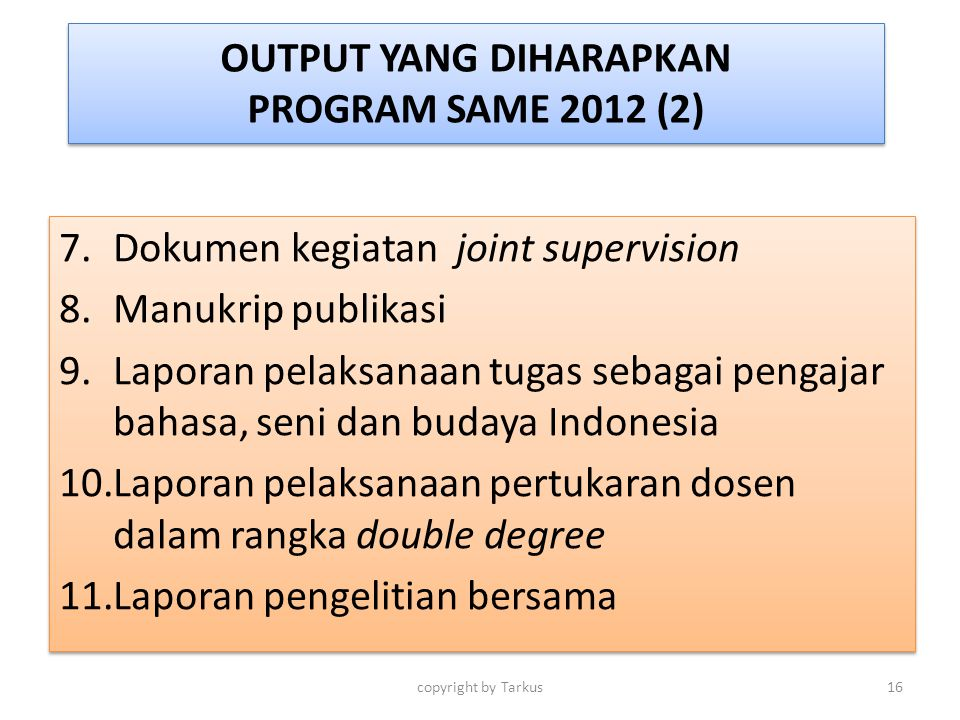 OUTPUT YANG DIHARAPKAN PROGRAM SAME 2012 (2)