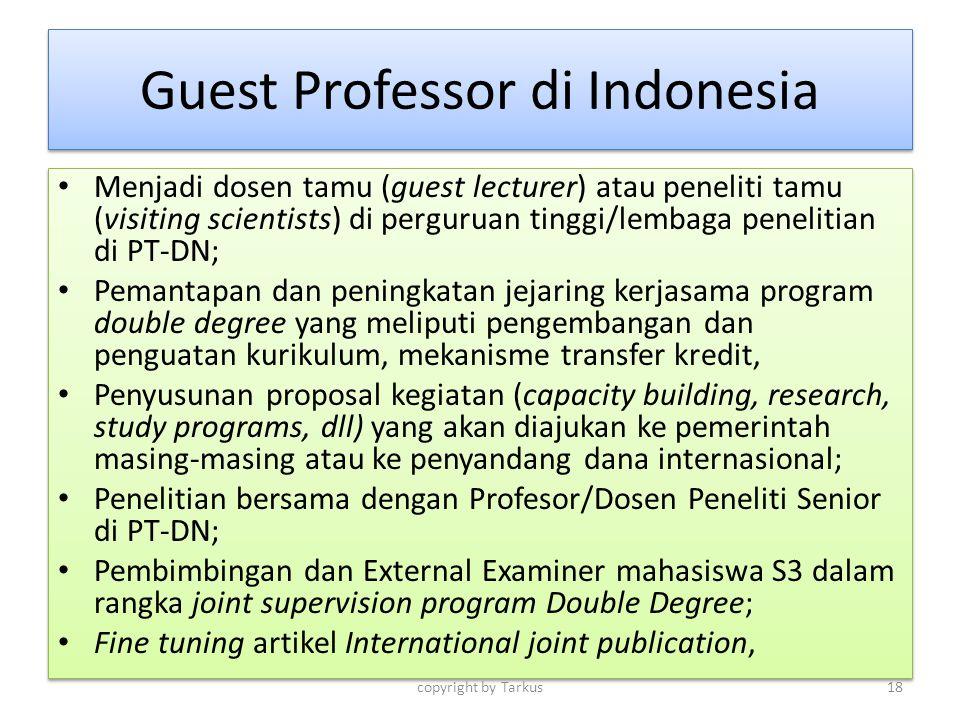 Guest Professor di Indonesia