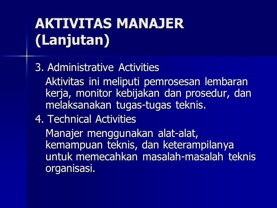 AKTIVITAS MANAJER (Lanjutan)