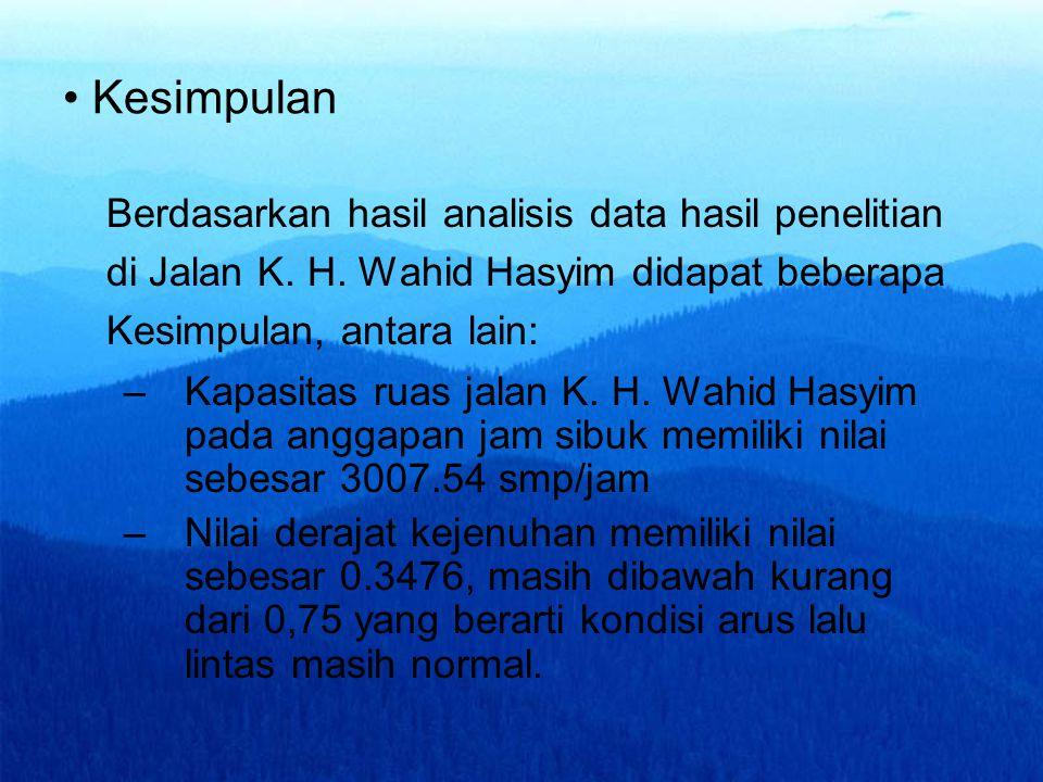 Kesimpulan Berdasarkan hasil analisis data hasil penelitian