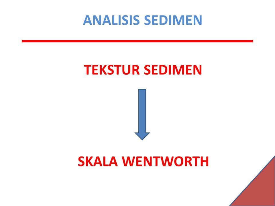 ANALISIS SEDIMEN TEKSTUR SEDIMEN SKALA WENTWORTH