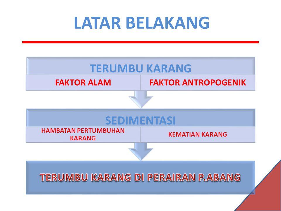HAMBATAN PERTUMBUHAN KARANG TERUMBU KARANG DI PERAIRAN P.ABANG