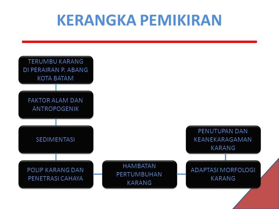 KERANGKA PEMIKIRAN TERUMBU KARANG DI PERAIRAN P. ABANG KOTA BATAM