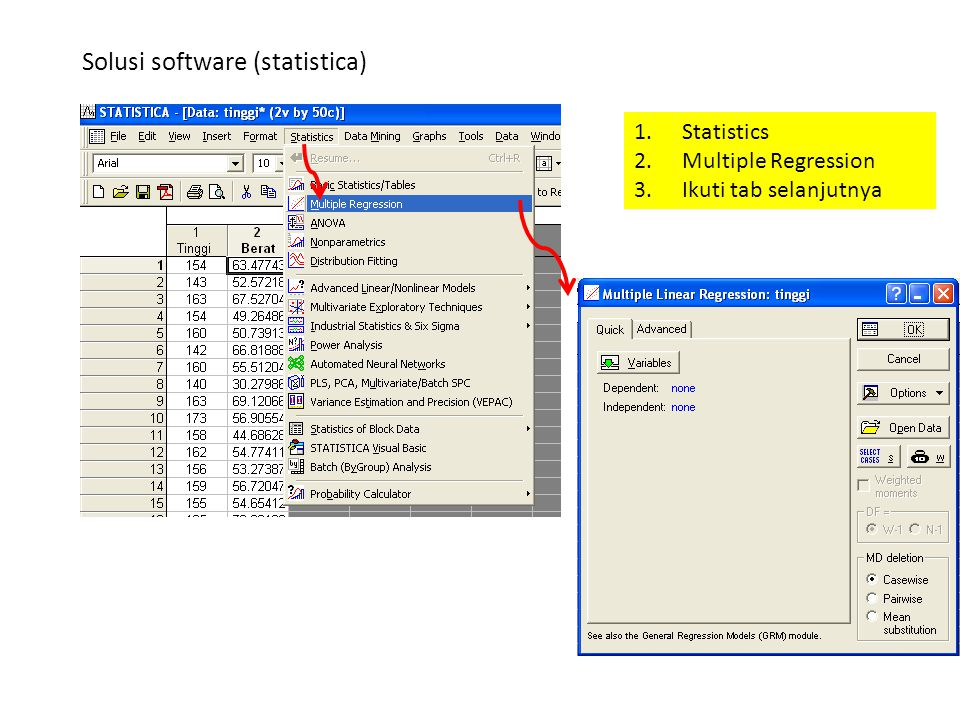Solusi software (statistica)