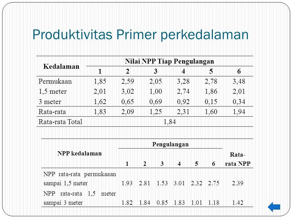 Produktivitas Primer perkedalaman