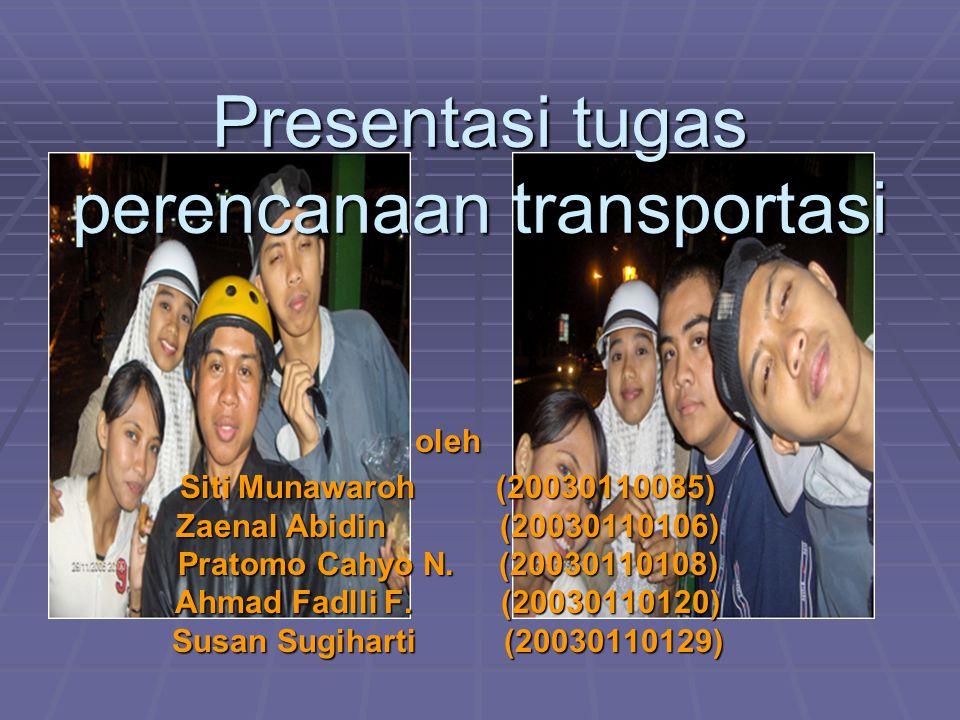 Presentasi tugas perencanaan transportasi