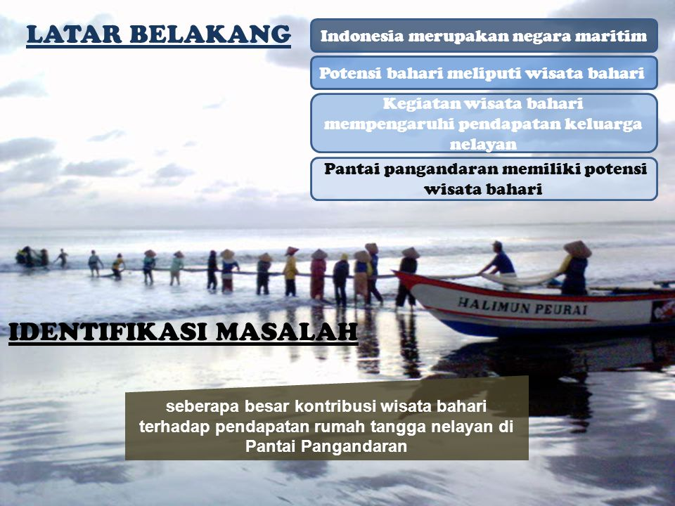 LATAR BELAKANG IDENTIFIKASI MASALAH Indonesia merupakan negara maritim