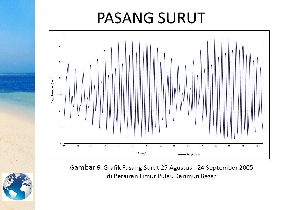 PASANG SURUT Gambar 6. Grafik Pasang Surut 27 Agustus - 24 September 2005.