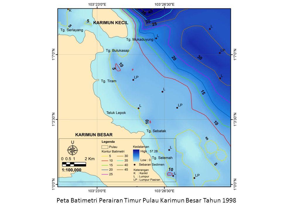 Peta Batimetri Perairan Timur Pulau Karimun Besar Tahun 1998