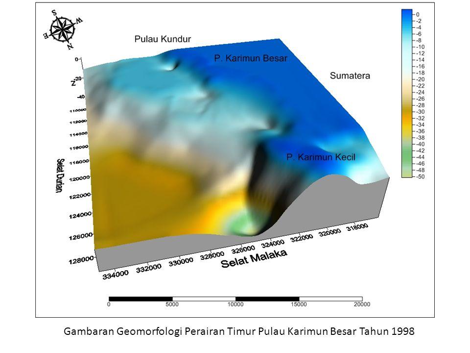 Gambaran Geomorfologi Perairan Timur Pulau Karimun Besar Tahun 1998