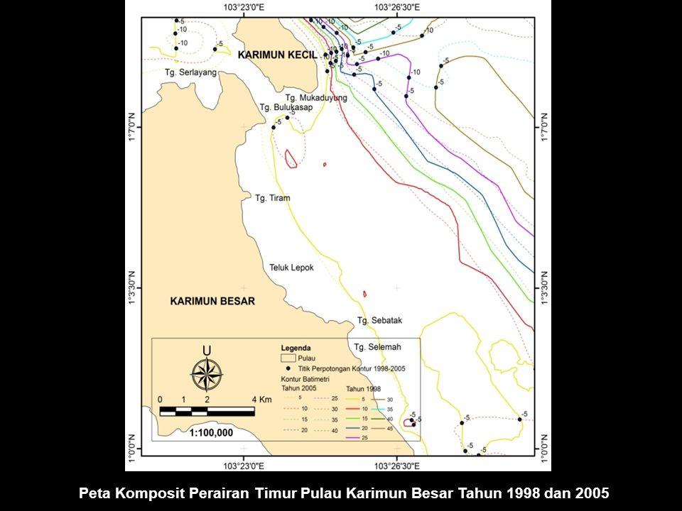 Peta Komposit Perairan Timur Pulau Karimun Besar Tahun 1998 dan 2005
