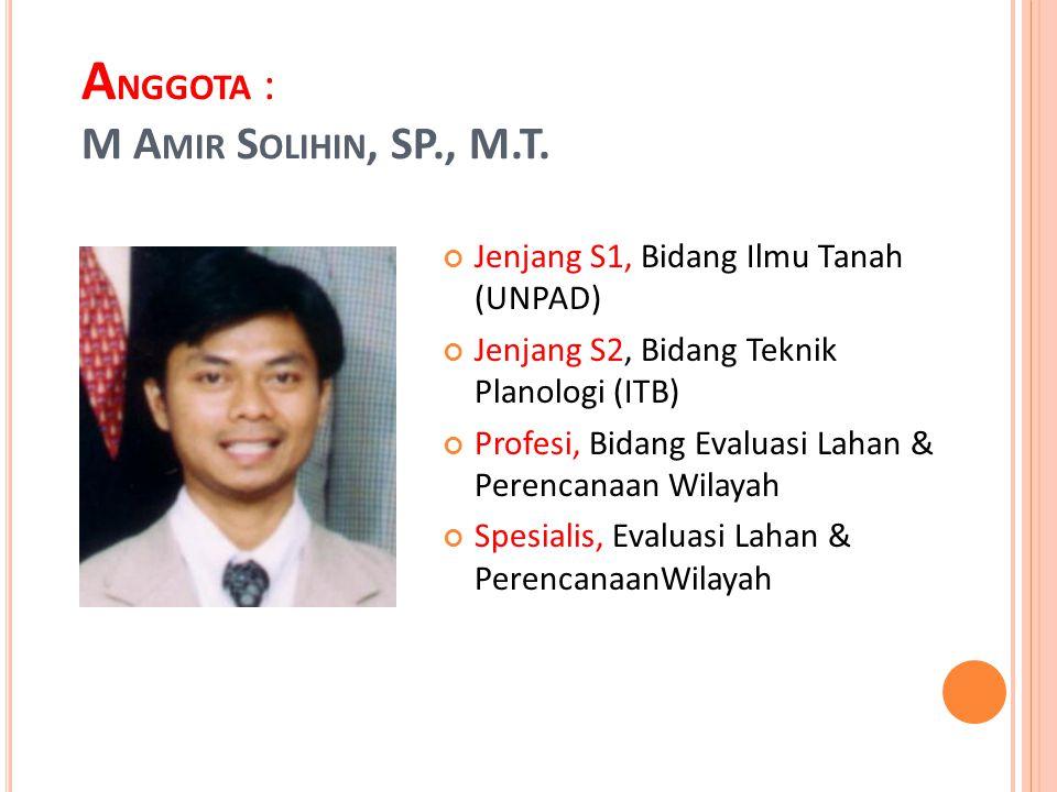 Anggota : m amir solihin, SP., M.T.