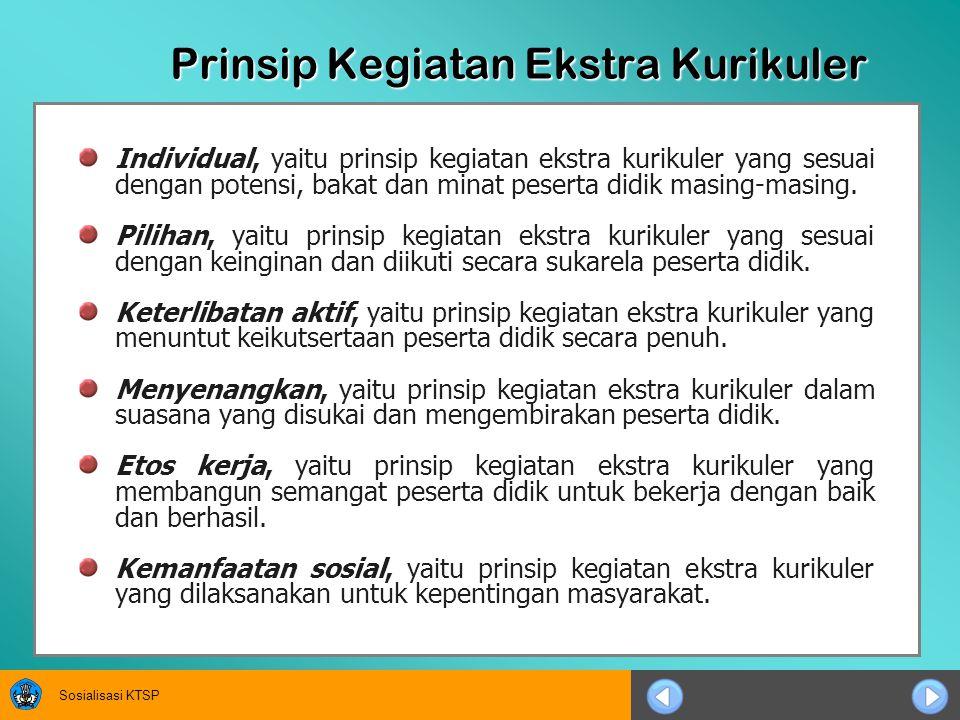 Prinsip Kegiatan Ekstra Kurikuler