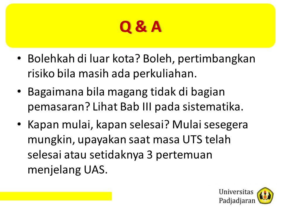 Q & A Bolehkah di luar kota Boleh, pertimbangkan risiko bila masih ada perkuliahan.