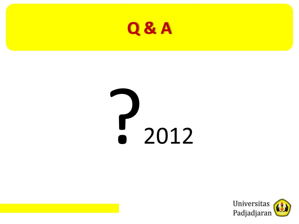 Q & A 2012
