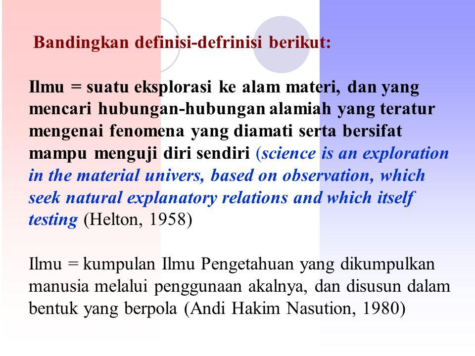 Bandingkan definisi-defrinisi berikut: