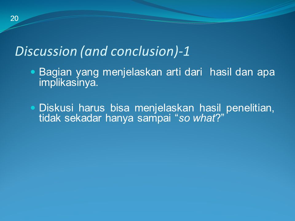 Discussion (and conclusion)-1