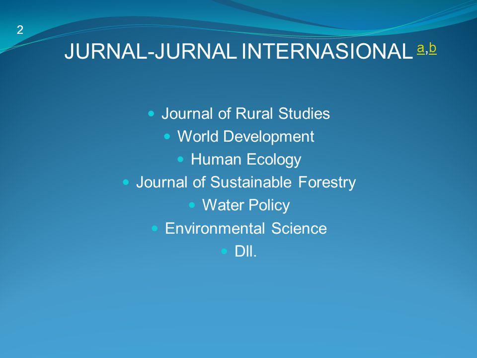 JURNAL-JURNAL INTERNASIONAL a,b