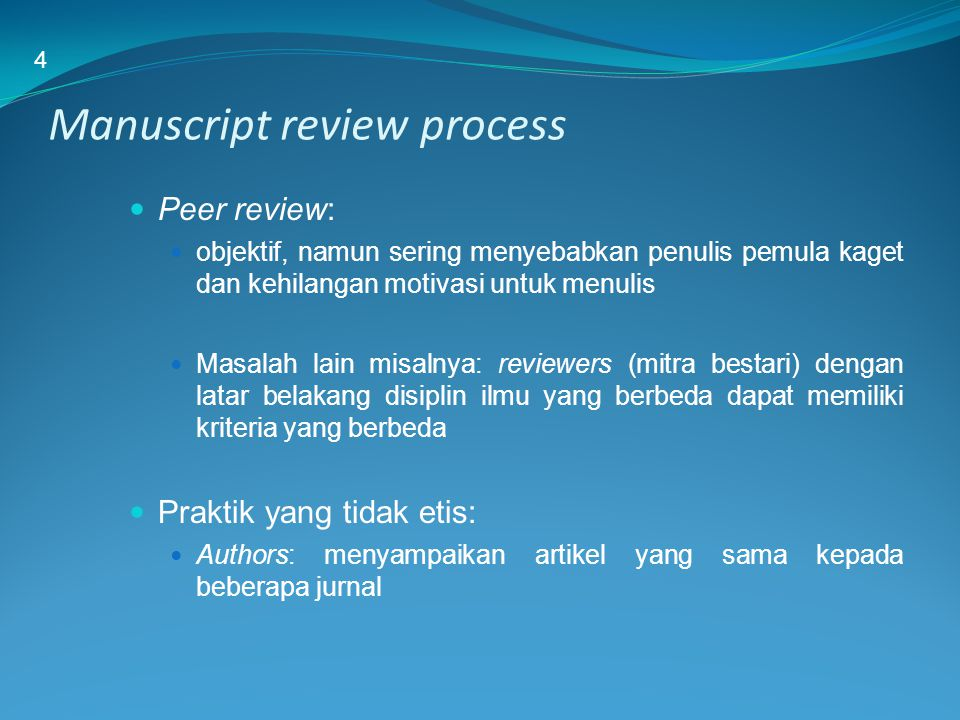 Manuscript review process