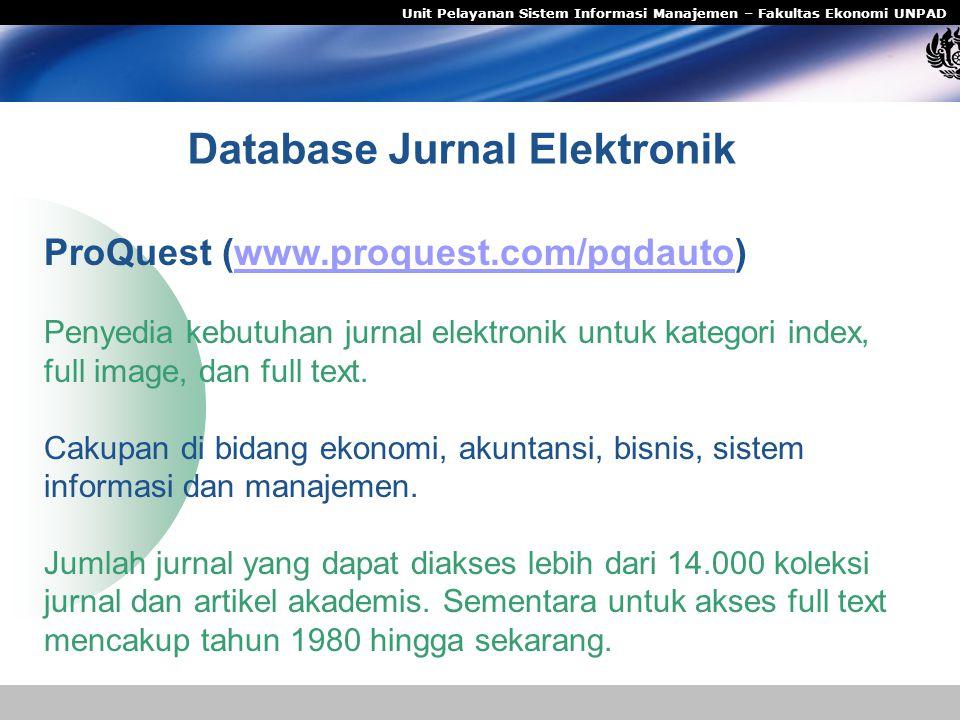 Database Jurnal Elektronik