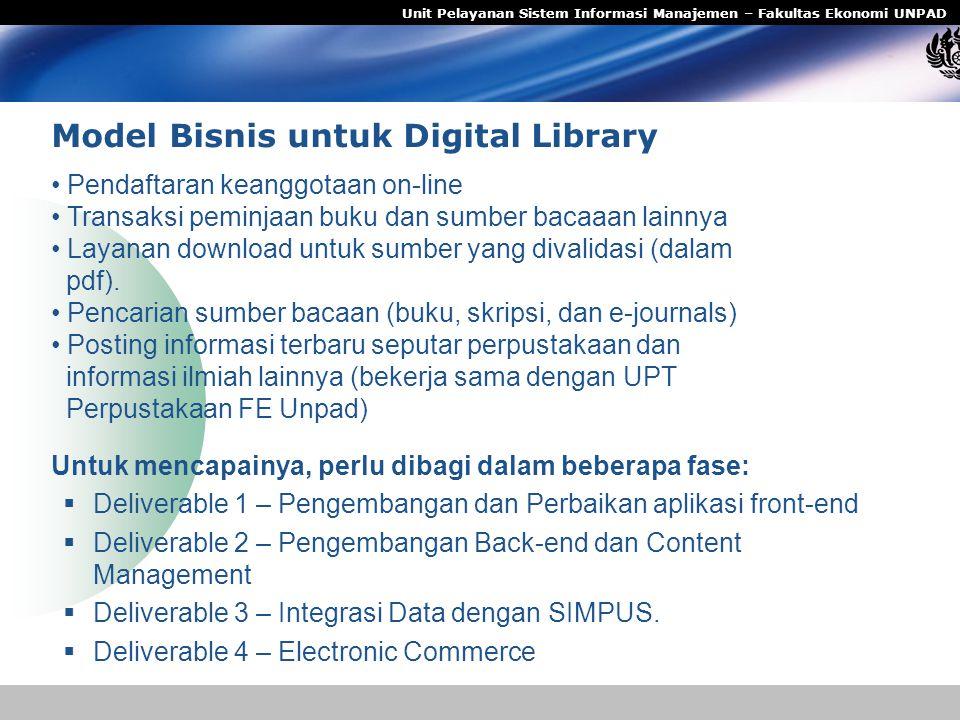 Model Bisnis untuk Digital Library