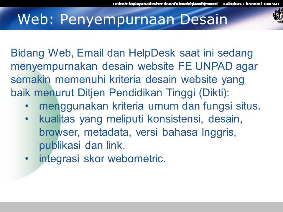 Web: Penyempurnaan Desain