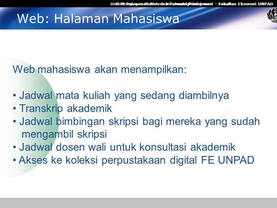 Web: Halaman Mahasiswa