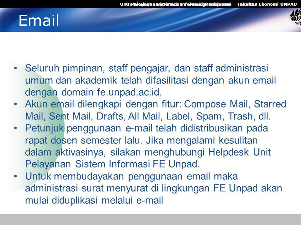 Unit Pelayanan Sistem Informasi Manajemen – Fakultas Ekonomi UNPAD