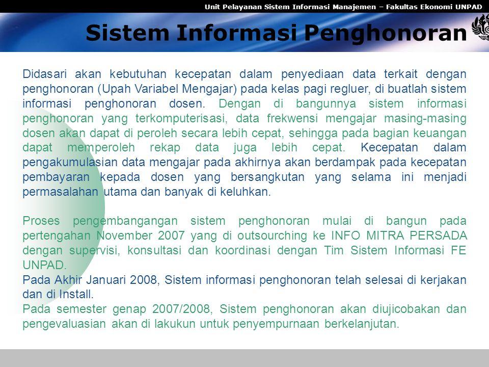 Sistem Informasi Penghonoran