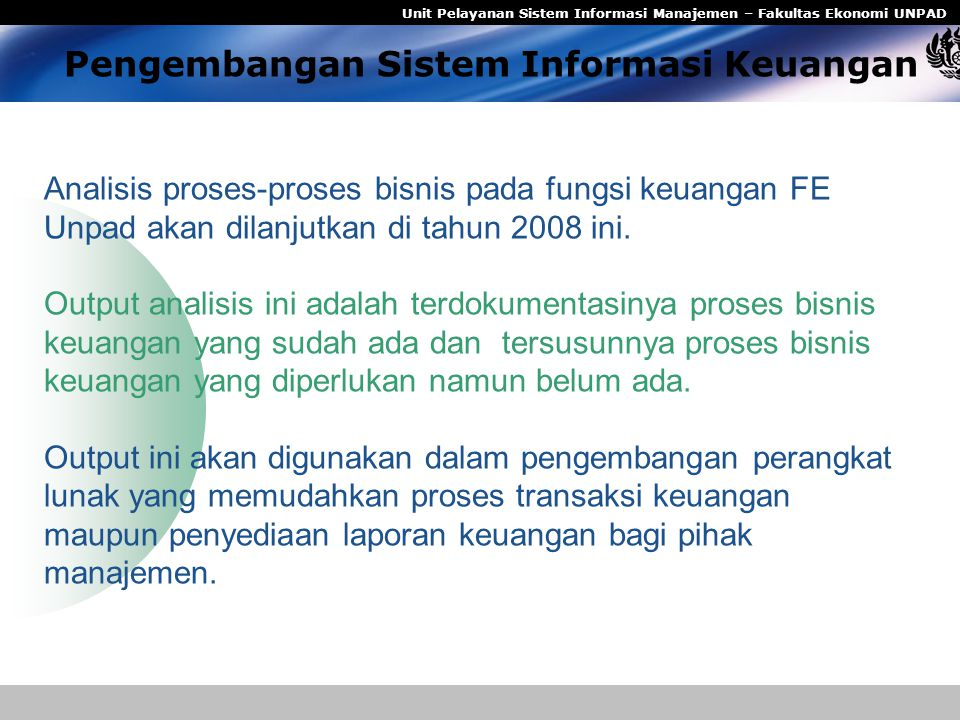 Pengembangan Sistem Informasi Keuangan