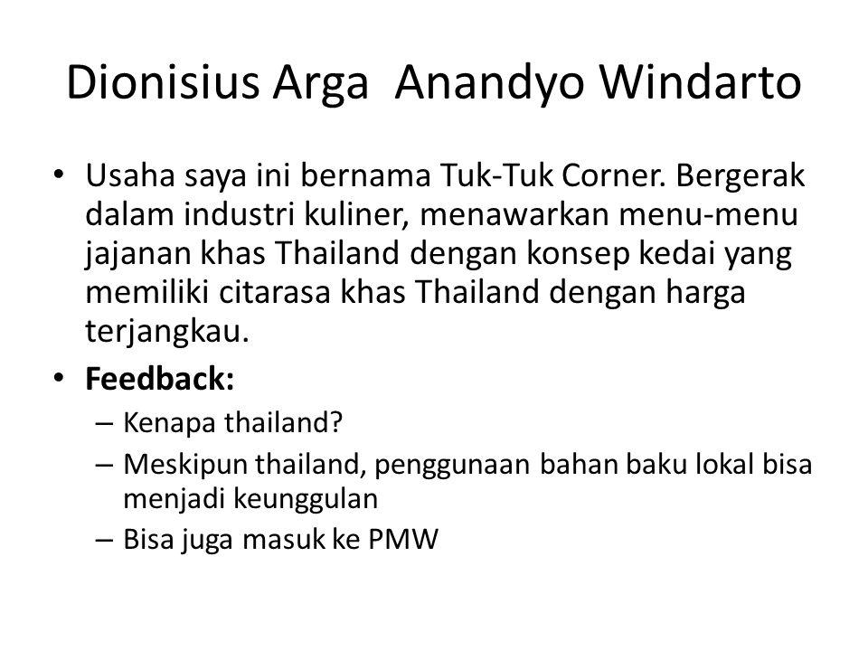 Dionisius Arga Anandyo Windarto