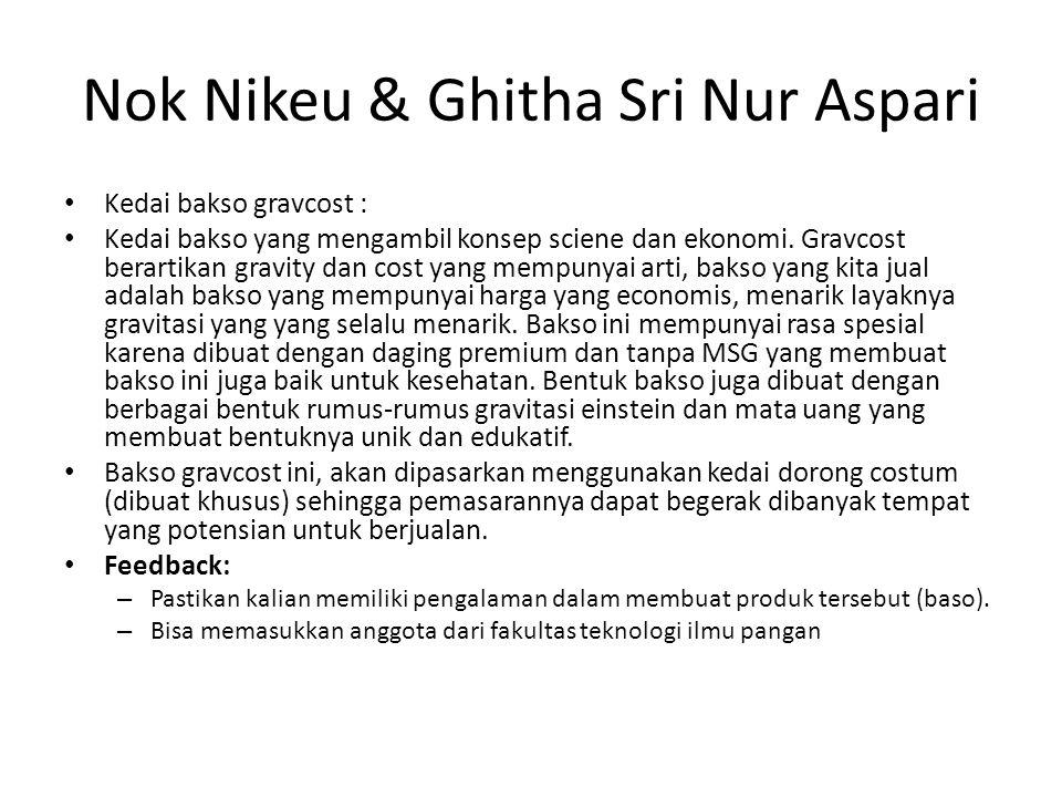 Nok Nikeu & Ghitha Sri Nur Aspari