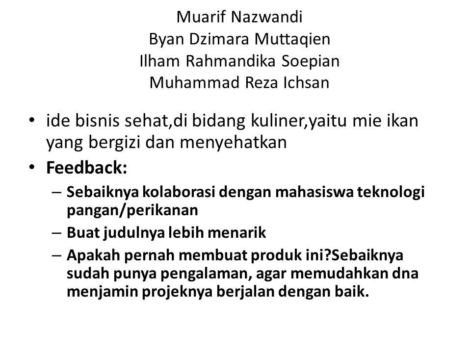 Muarif Nazwandi Byan Dzimara Muttaqien Ilham Rahmandika Soepian Muhammad Reza Ichsan