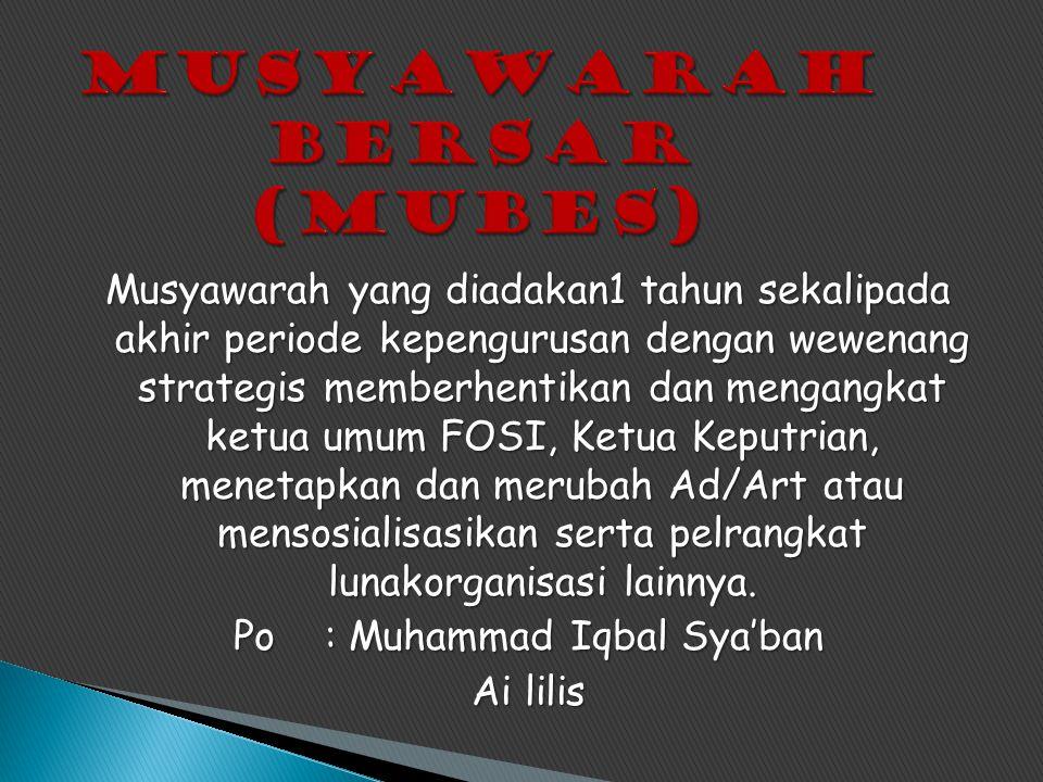 Musyawarah bersar (Mubes)