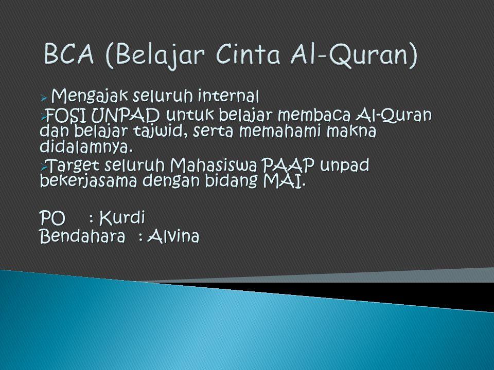 BCA (Belajar Cinta Al-Quran)