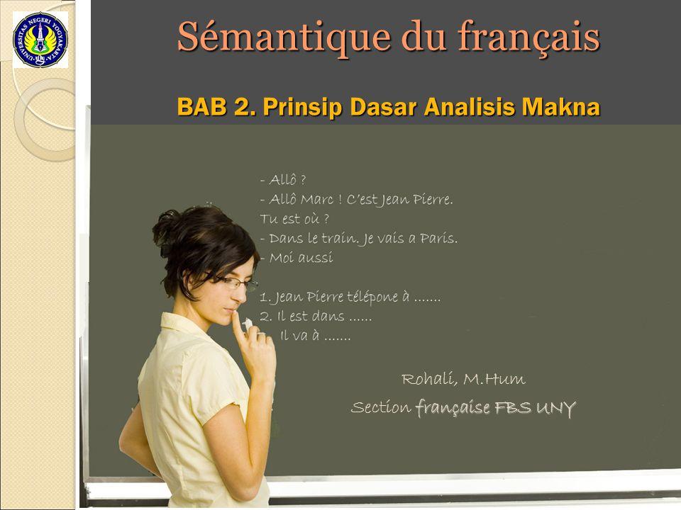 Sémantique du français
