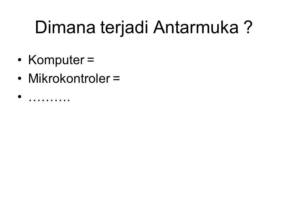 Dimana terjadi Antarmuka