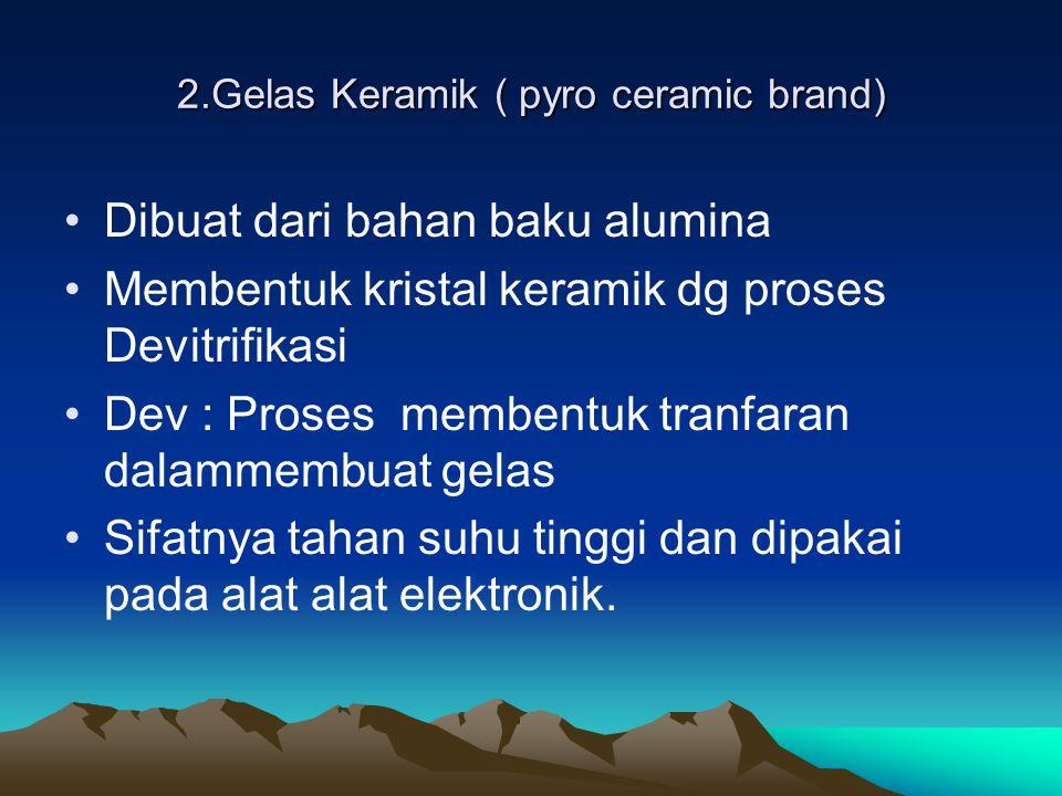 2.Gelas Keramik ( pyro ceramic brand)