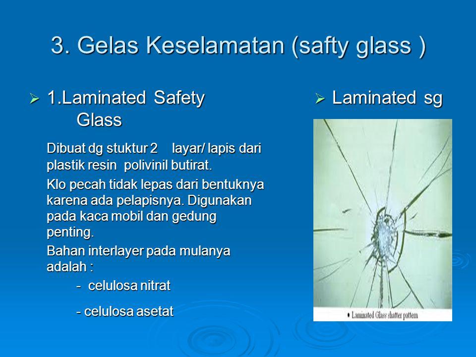 3. Gelas Keselamatan (safty glass )
