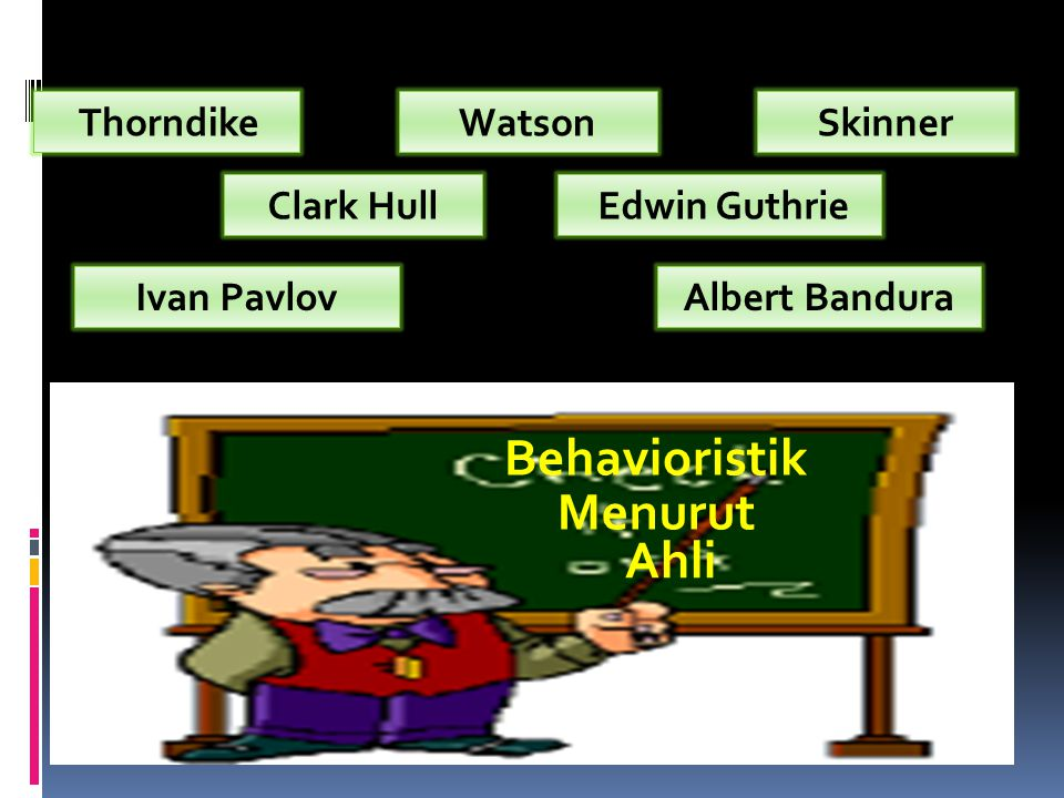 Behavioristik Menurut Ahli